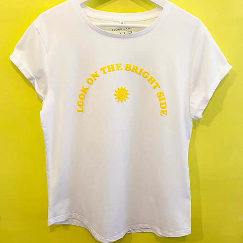 LOOK ON THE BRIGHT SIDE T-SHIRT WHITE