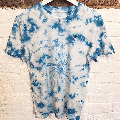 MARINE DREAM TIE DYE T-SHIRT WASHED BLUE