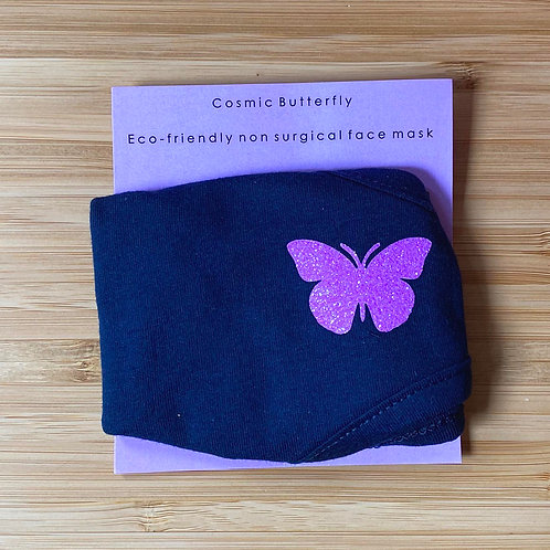 ADULTS ECO FRIENDLY FACE MASK COSMIC BUTTERFLY