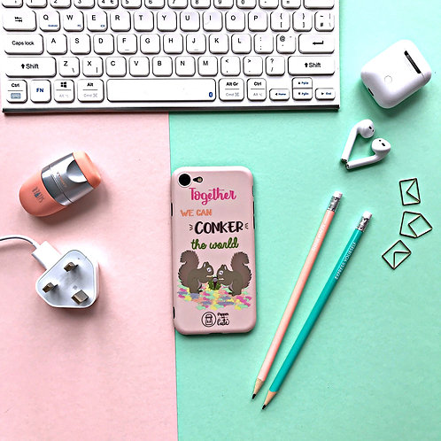 Together we can conker the world - Phone Case