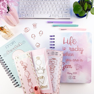 Cute stationery set front view