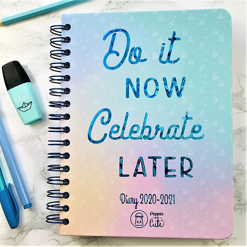 Cute diary and planner front view