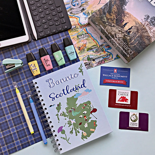 Bonnie Scotland notebook front cover