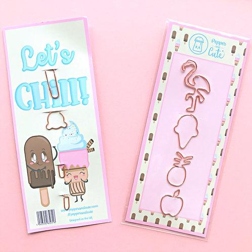 Flamingo paper clip