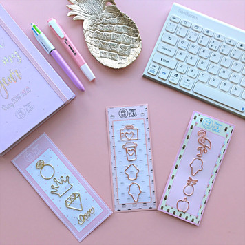 Desktop with cute stationery on it