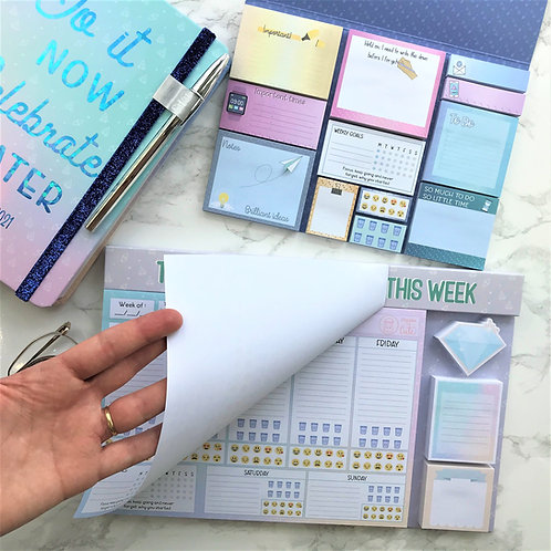 Cute stationery set | Diary whole view