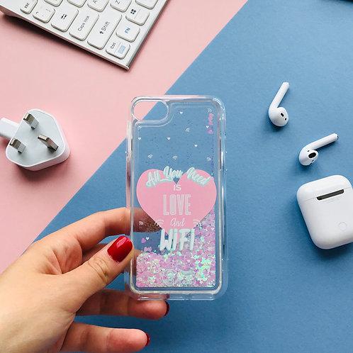 Glitter phone case - Love