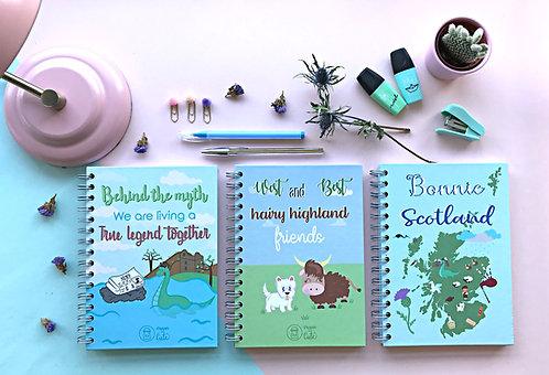 Set of Scottish notebooks