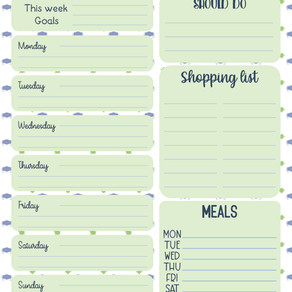 Free Download - Weekly Isolation Planner