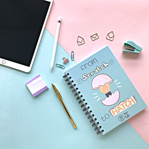 Pretty notebook with funny design front view