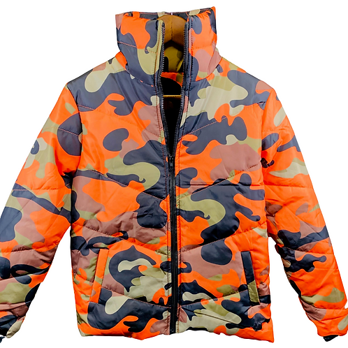 Trendy & Stylish Orange Camo Winter Coat
