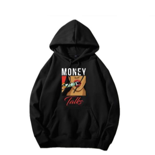 Money Talk Hoodie (White Only)