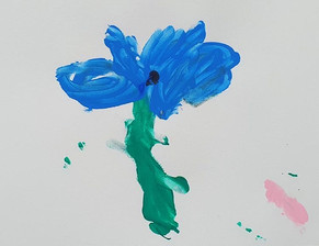 The rainbow collection: blue flower