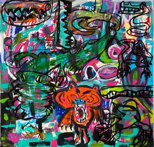 Tigre aux yeux violets