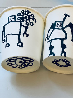 J 05 - Doodle goblet: Me and my little sister