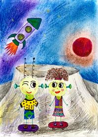 Aliens Dean et Rosie, La lune