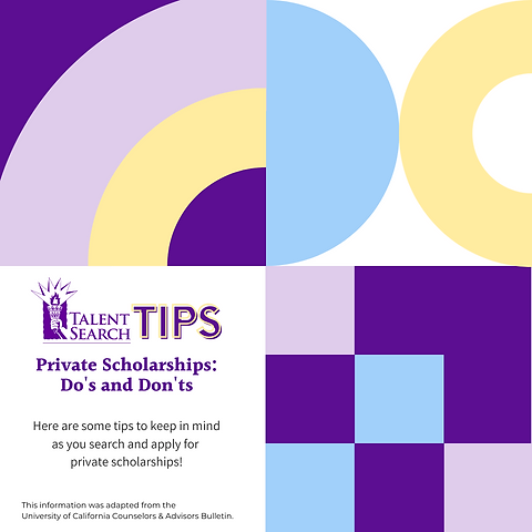 TS Tips - Private Scholarships DOs and D