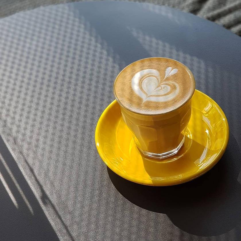 Hot Latte from Bricklin Cafe Bar
