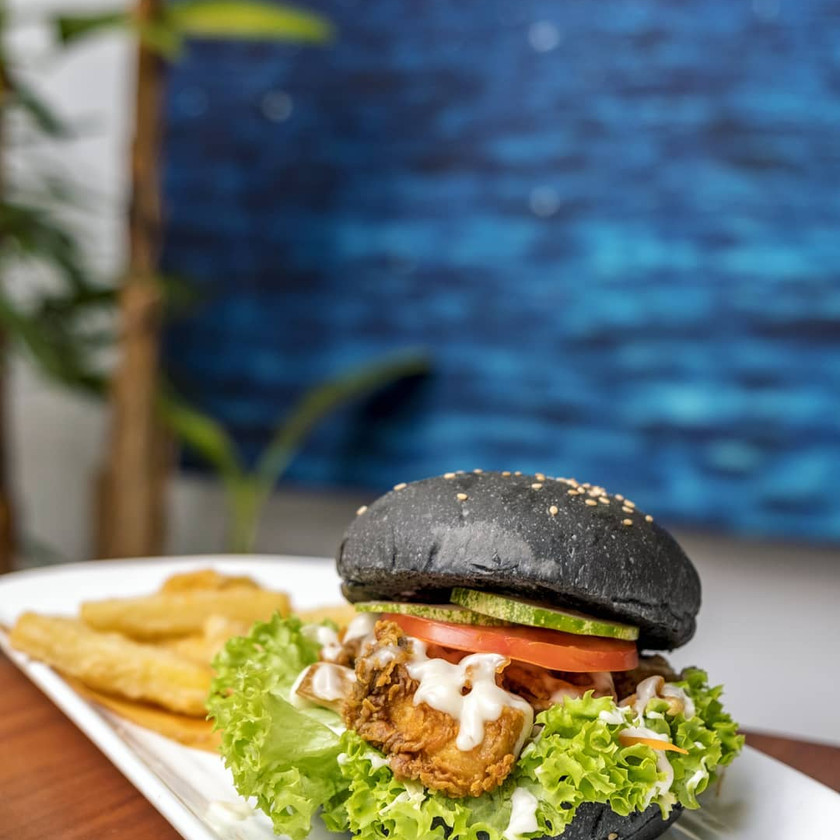 Blue Vegan Burger