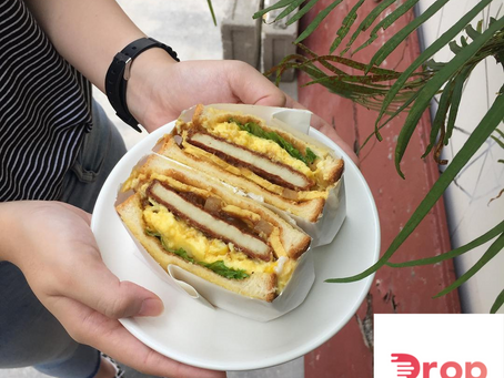 Toast Sandwiches and Burgers in Penang with DROP