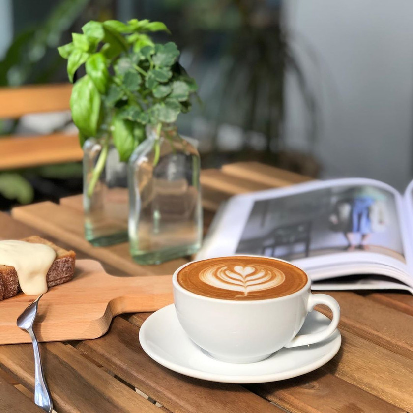 Latte at Just Caffe