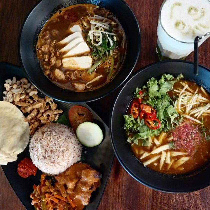 Vegan Nasi Lemak, Spicy Noodle Soup, Laksa