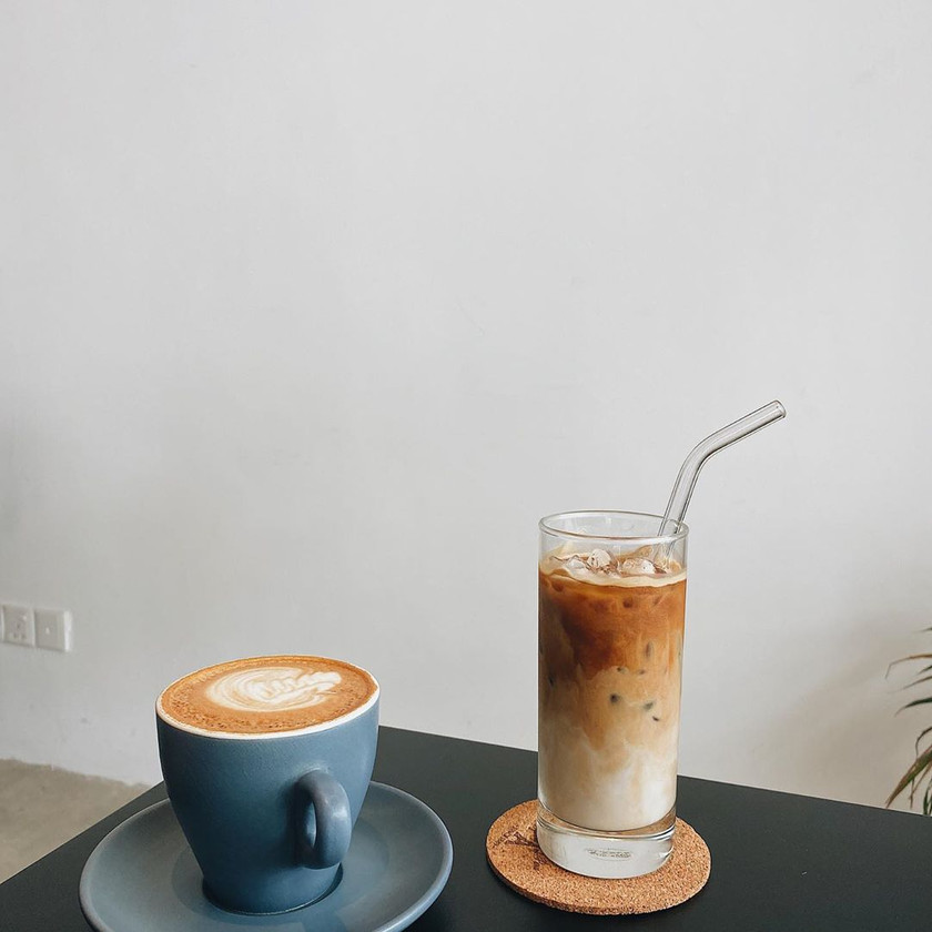 Latte and Iced Latte Reframe Coffee Roasters
