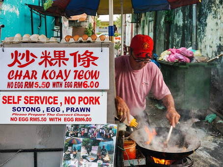 Left Handed Char Koay Teow, Nazzeera's Cafe and Pos Burger Jelutong