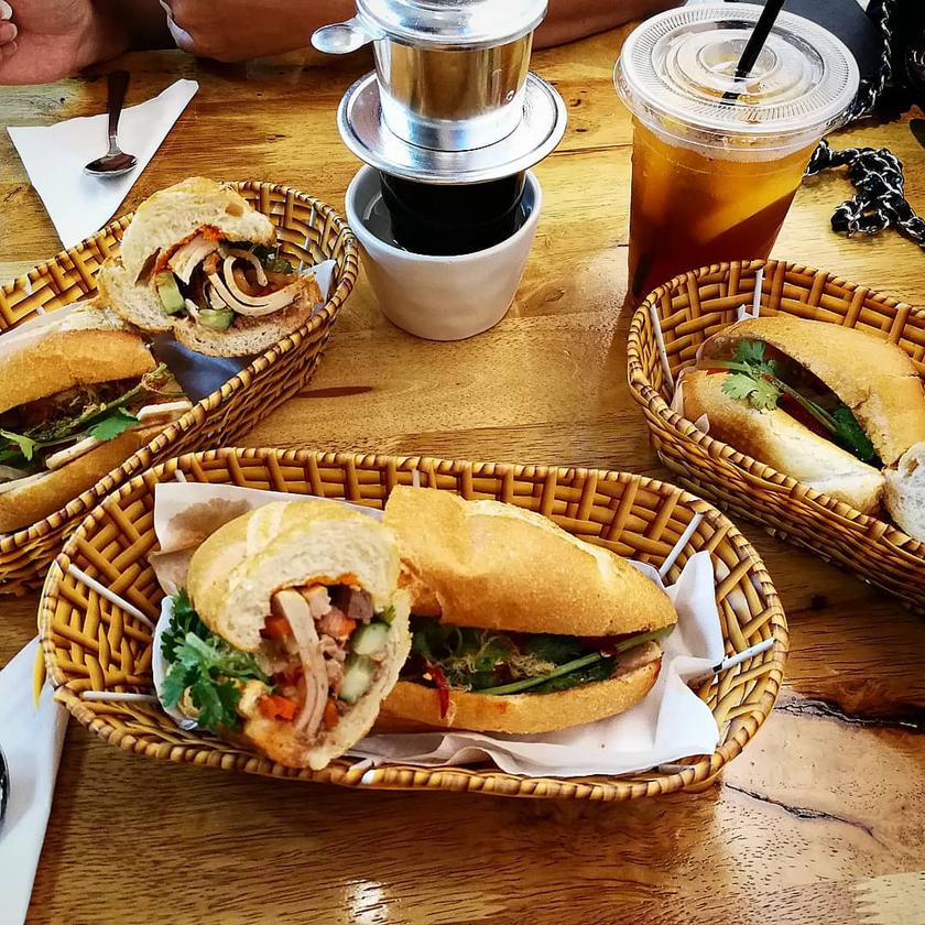 Vietnamese Coffee and 3 Banh Mi
