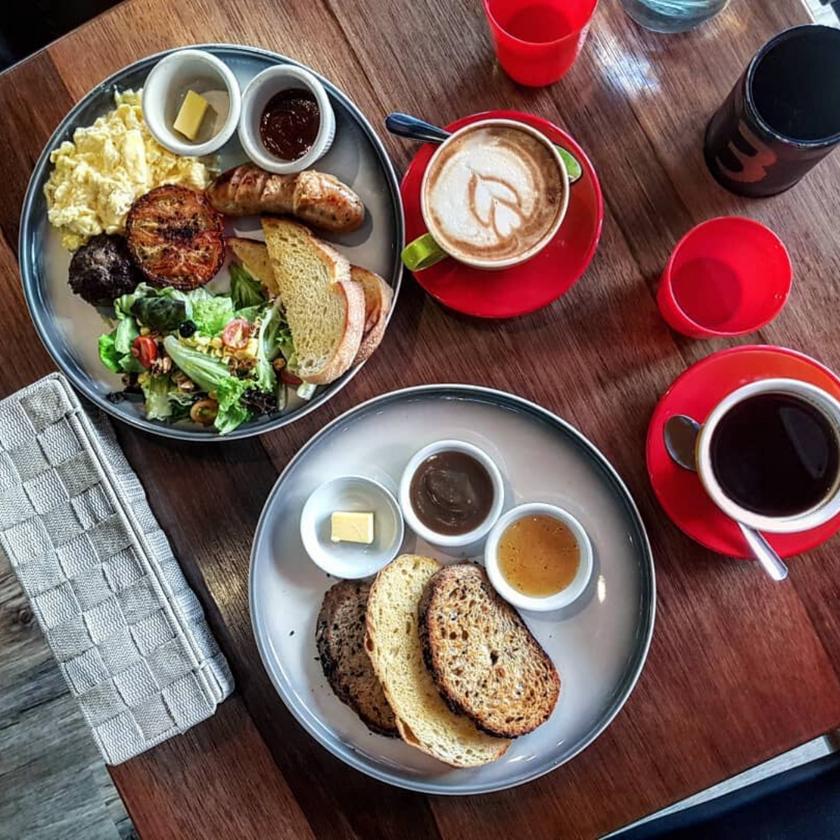 Breakfast Toast with Coffee Yin's Sourdough Bakery