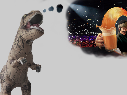 Teh Tarik Master drinks Milo Dinosaur: becomes a dinosaur.