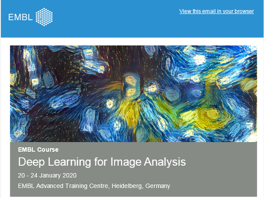 Katya Smoliansky participated in an EMBL course on Deep Learning for Image Analysis