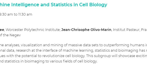 "ASCB subgroup on ""Machine intelligence and statistics in cell biology"""