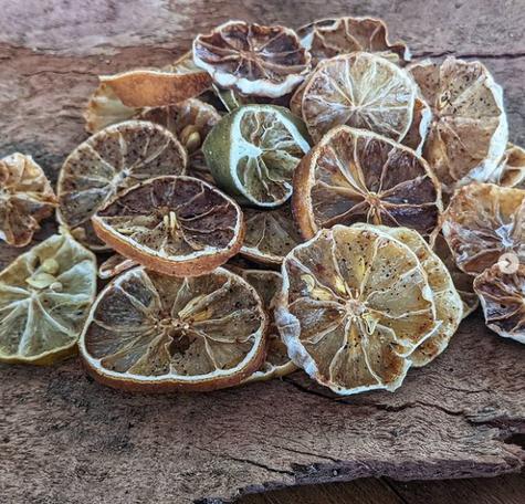 Cítricos desidratados no forno: aroma e sabor
