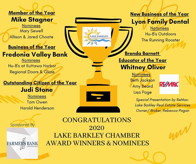 Congratulations 2020 Lake Barkley Chambe
