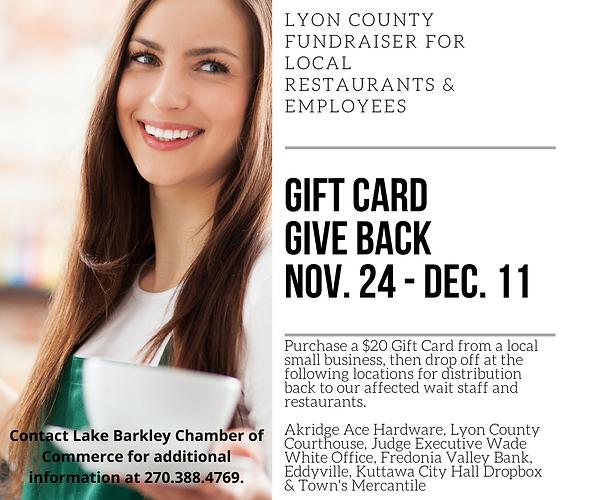 LYON COUNTY FUNDRAISER for LOCAL Restaur