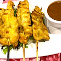 Satay Chicken (four skewers)