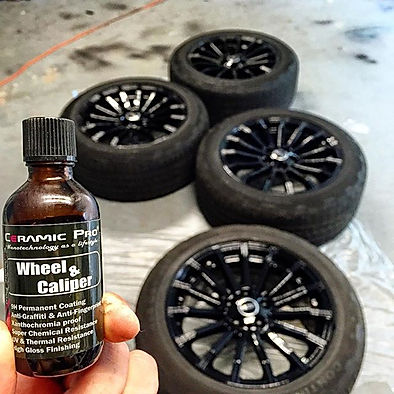 Freshly Powder Coated Wheels Protected by Ceramic Pro Wheel & Caliper