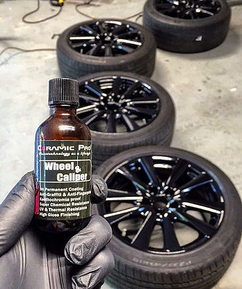 Freshly Powder Coated Wheels Protected by Ceramic Pro Wheel & Caliper