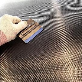Vinyl Wrapping the hood 4D Carbon Fiber