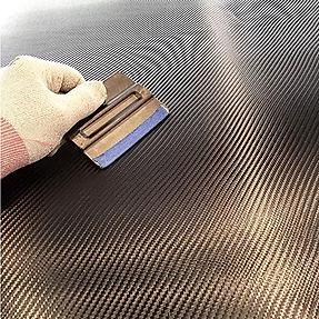 Vinyl Wrapping the hood 4D Carbon Fiber