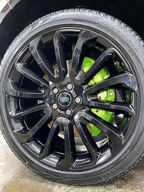 Metallic Gloss Black Powdercoated Wheels