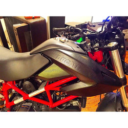 Ducati Hypermotard wrapped in a snake skin pattern vinyl! Completely changed the look of the bike! C