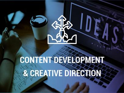 CONTENT DEVELOPMENT & CREATIVE DIRECTION