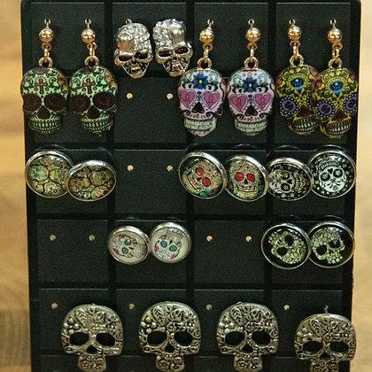 Skull Design Earrings