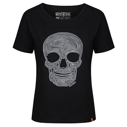 Moto Girl skull