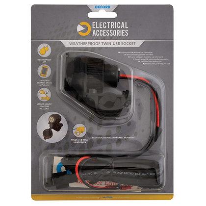 Oxford Weatherproof Dual USB Socket