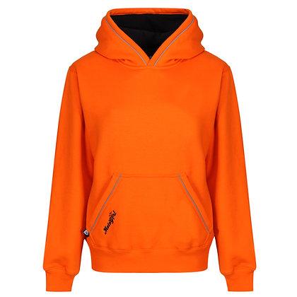 Moto Girl Orange Hoodie