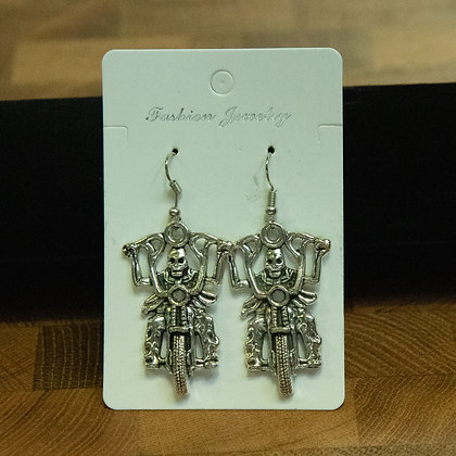 Death on Bike Earrings