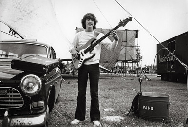 En ung Bo Stief backstage på Orange Scene på Roskilde Festival 1978